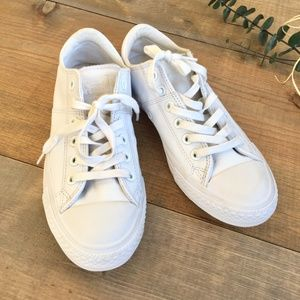 Converse All Star white leather sneakers low top 8